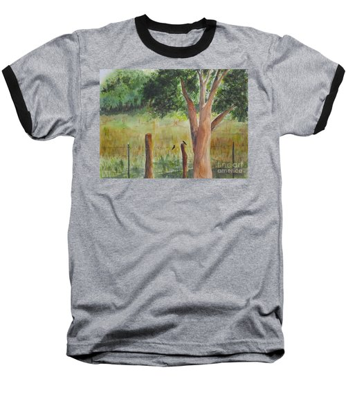 Baseball T-Shirt featuring the painting Afternoon Chat by Vicki  Housel