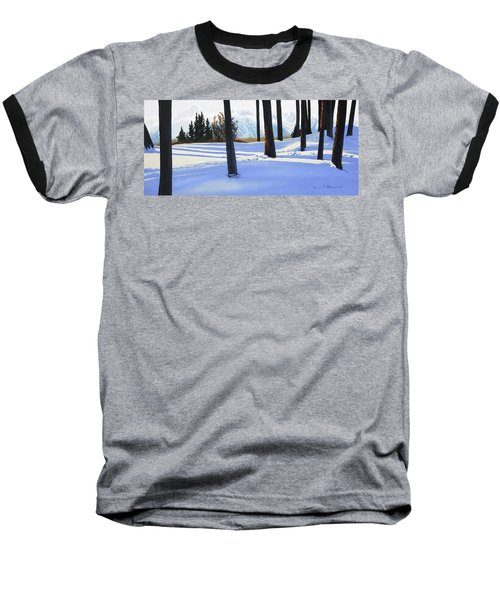 Afternoon In Snowy Mountains Baseball T-Shirt