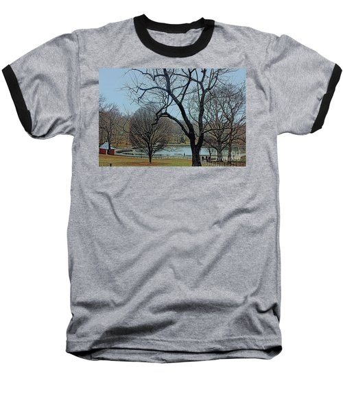 Afternoon In The Park Baseball T-Shirt by Sandy Moulder