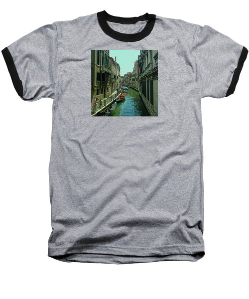 Baseball T-Shirt featuring the photograph Afternoon In Venice by Anne Kotan