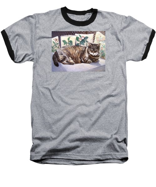 Baseball T-Shirt featuring the painting Afternoon Nap by Laura Aceto