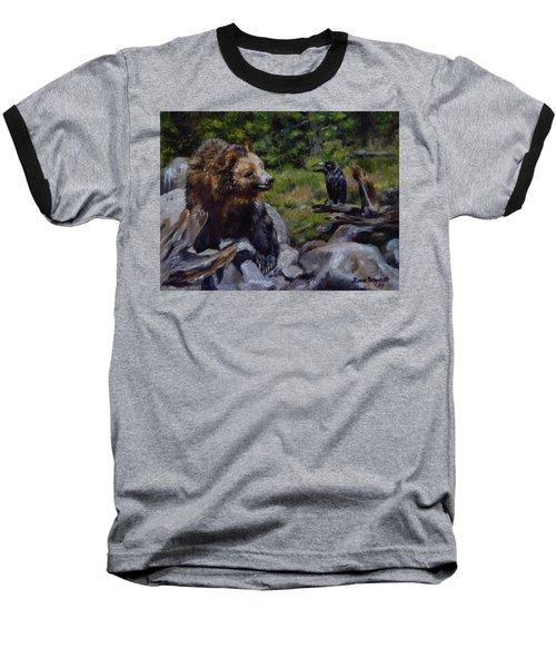 Afternoon Neigh-bear Baseball T-Shirt