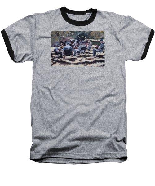 Afternoon Pickers Baseball T-Shirt by Richard Willson