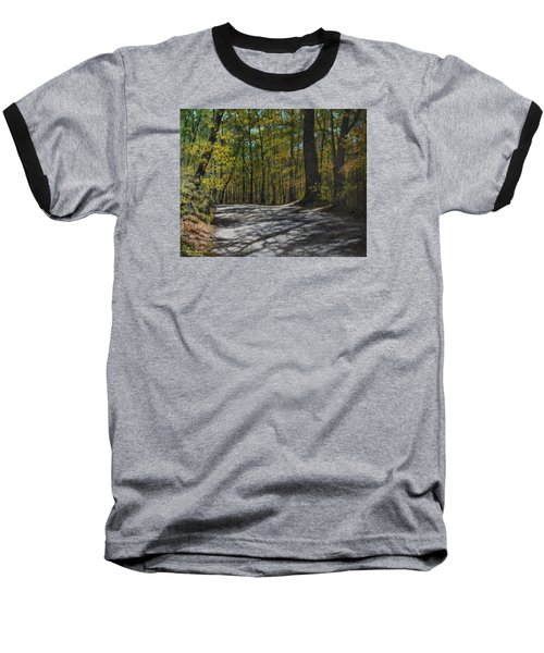 Afternoon Shadows - Oconne State Park Baseball T-Shirt by Kathleen McDermott