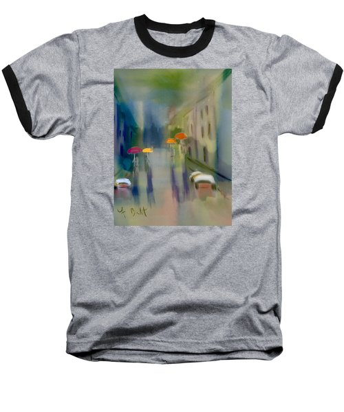 Afternoon Shower In Old San Juan Baseball T-Shirt by Frank Bright