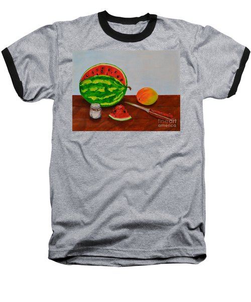 Afternoon Summer Treat Baseball T-Shirt by Melvin Turner