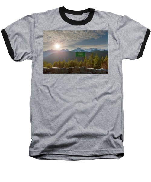Afternoon Sun Over Tantalus Range From Lookout Baseball T-Shirt