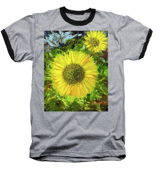 Afternoon Sunflowers Baseball T-Shirt