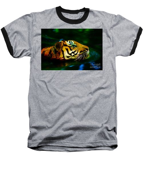 Afternoon Swim - Tiger Baseball T-Shirt