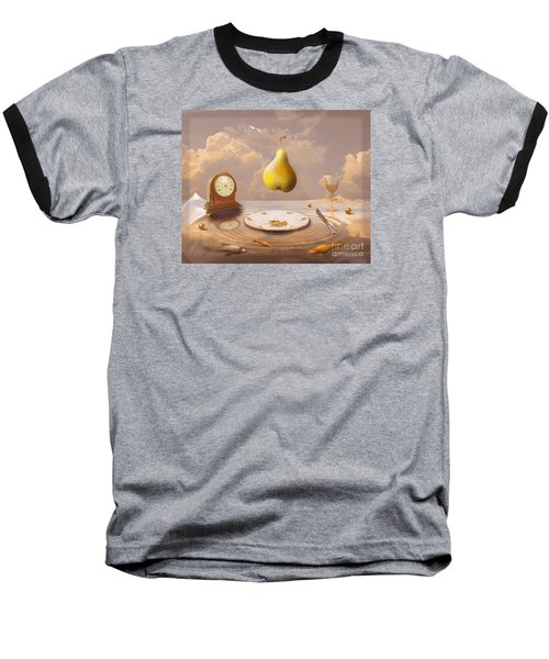 Baseball T-Shirt featuring the drawing Afternoon Tea by Alexa Szlavics