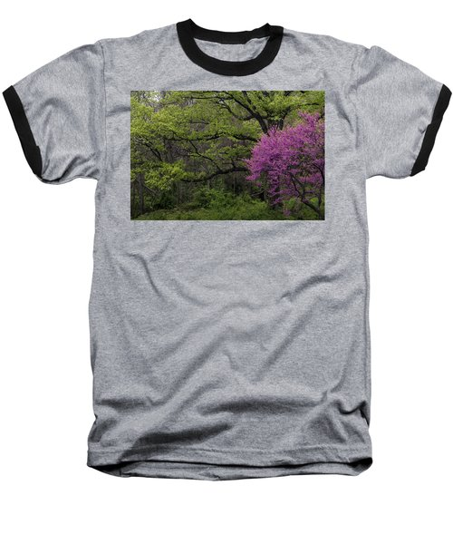 Baseball T-Shirt featuring the photograph Afton Virginia Spring Red Bud by Kevin Blackburn