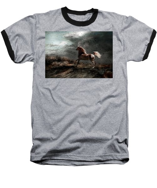 Baseball T-Shirt featuring the photograph Against All Odds by Dorota Kudyba