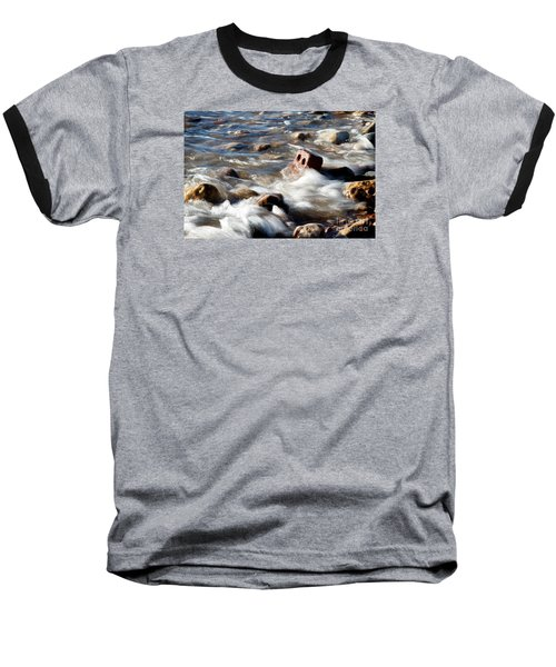 Baseball T-Shirt featuring the photograph Against The Elaments. by Gary Bridger