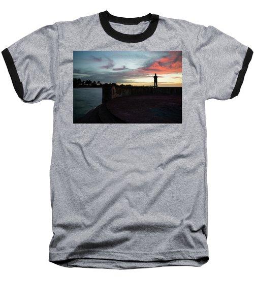 Against The Sky Baseball T-Shirt