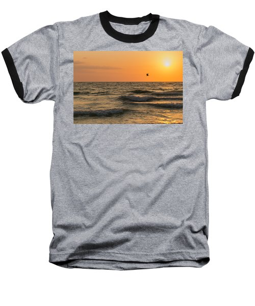 Against The Wind Baseball T-Shirt by Christopher L Thomley