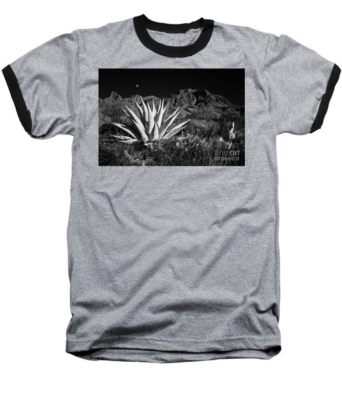 Agave And Moonrise Baseball T-Shirt