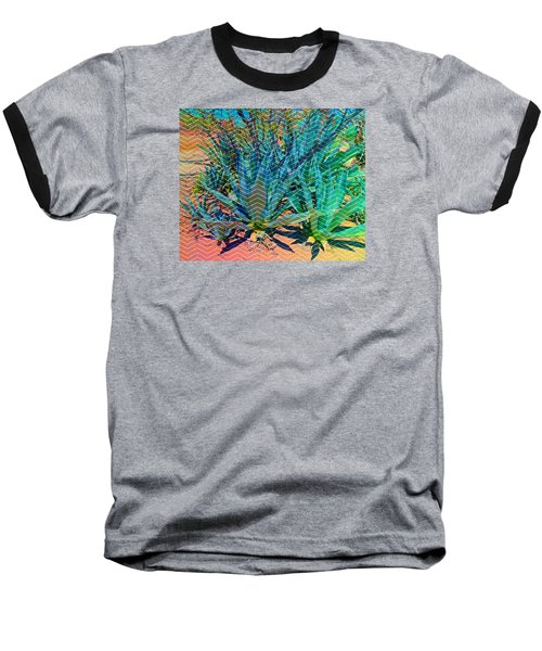 Baseball T-Shirt featuring the mixed media Agave by Michelle Dallocchio