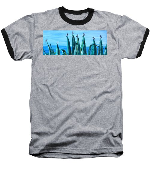Agave With Sparrows Baseball T-Shirt