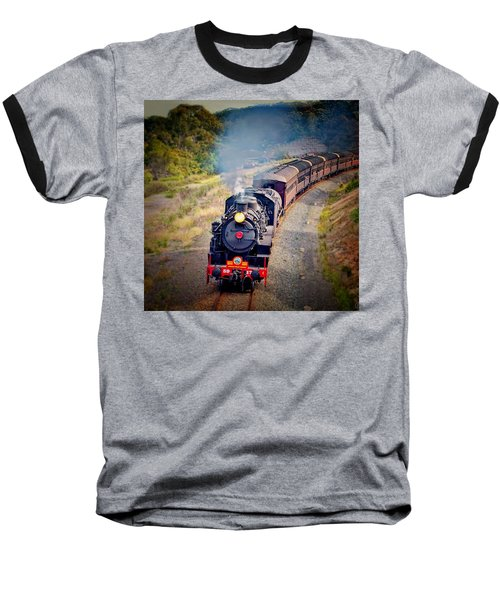Age Of Steam Baseball T-Shirt by Wallaroo Images