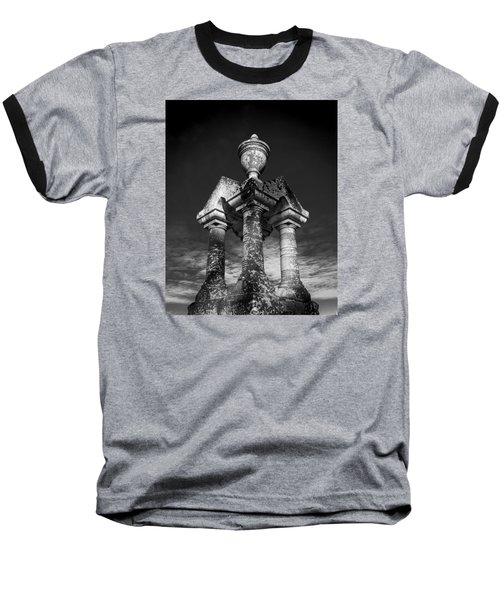Aged Stone And Sky Baseball T-Shirt