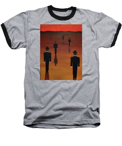 Baseball T-Shirt featuring the painting Agents Orange by Thomas Blood