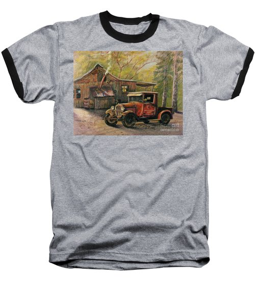 Agent's Visit Baseball T-Shirt by Marilyn Smith