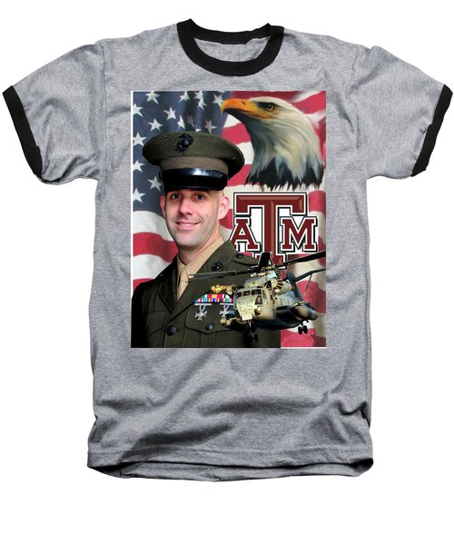 Aggie Major Baseball T-Shirt by Ken Pridgeon