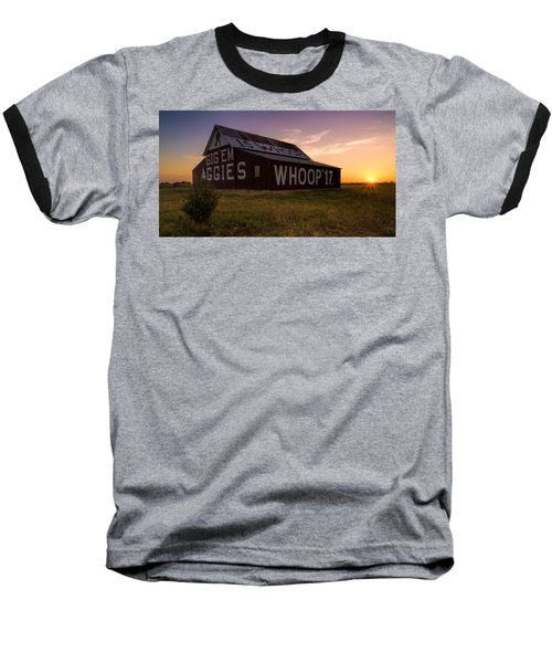 Aggie Sunset Baseball T-Shirt by Jonathan Davison