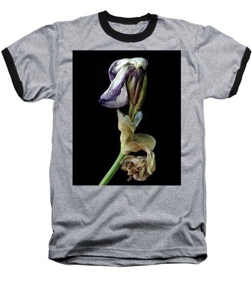 Aging Iris Baseball T-Shirt by Art Shimamura