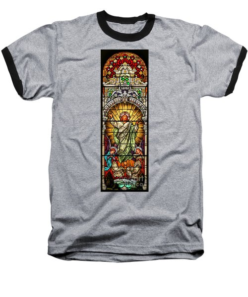 Baseball T-Shirt featuring the photograph Stained Glass Scene 10 Crop by Adam Jewell