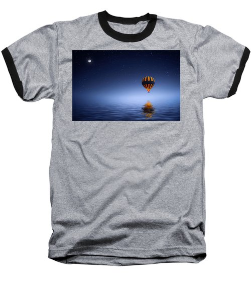 Baseball T-Shirt featuring the photograph Air Ballon by Bess Hamiti