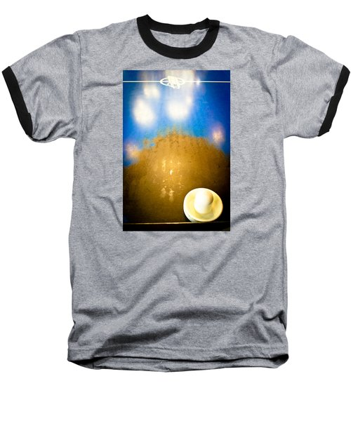 Air Hockey - Vintage Blue Top Baseball T-Shirt by Colleen Kammerer