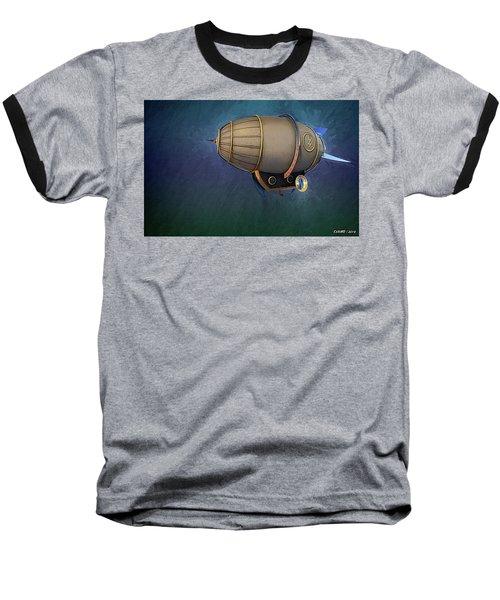 Airship In Flight Baseball T-Shirt