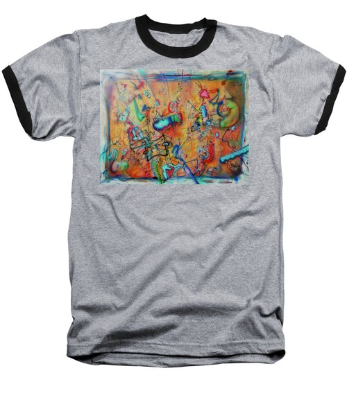 Digital Landscape, Airbrush 1 Baseball T-Shirt