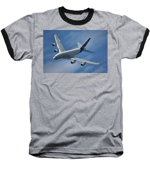 Airbus A380 Baseball T-Shirt by Tim Beach