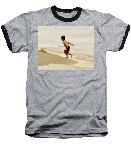 Airplane Boy Baseball T-Shirt by John Hansen
