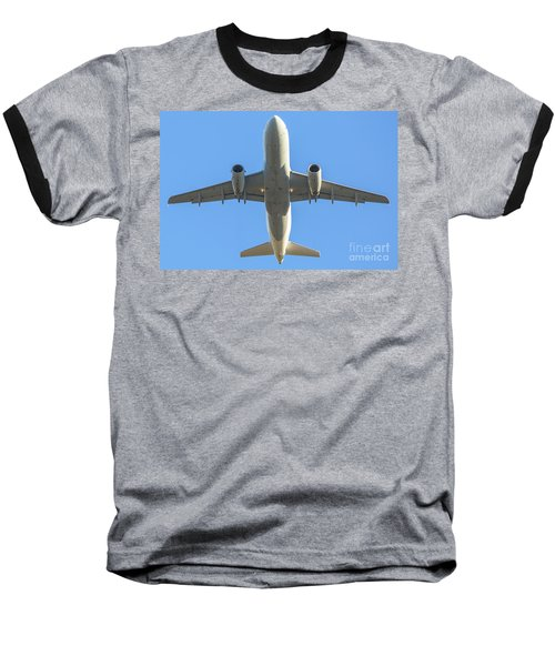 Airplane Isolated In The Sky Baseball T-Shirt