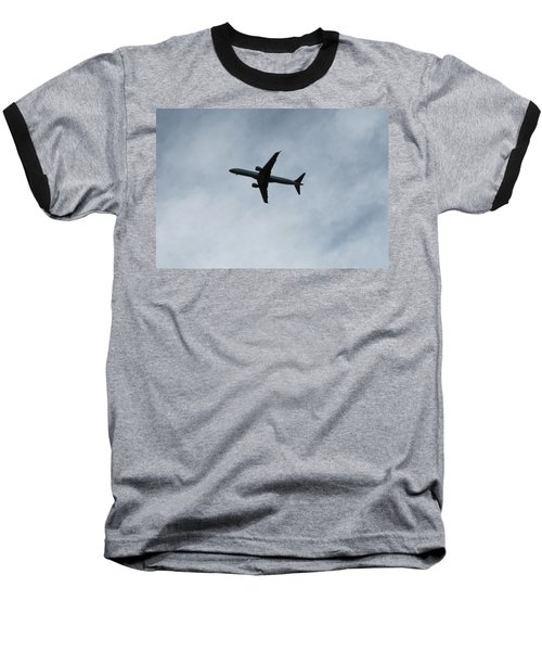 Airplane Silhouette Baseball T-Shirt