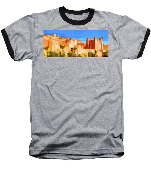 Ait Benhaddou Morocco Baseball T-Shirt by Wally Hampton