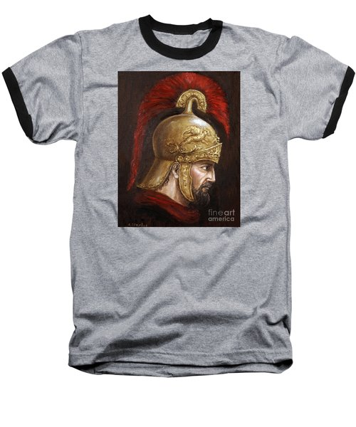 Baseball T-Shirt featuring the painting Ajax by Arturas Slapsys