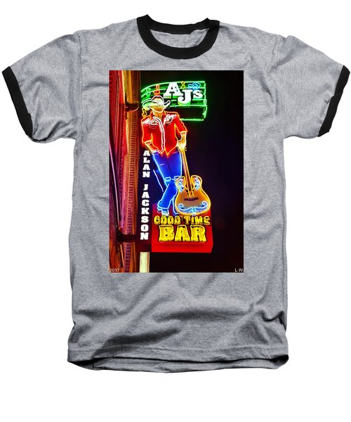 Aj's Good Time Bar Baseball T-Shirt