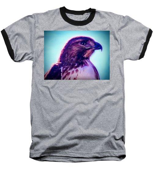 Ak-chin Red-tailed Hawk Portrait Baseball T-Shirt