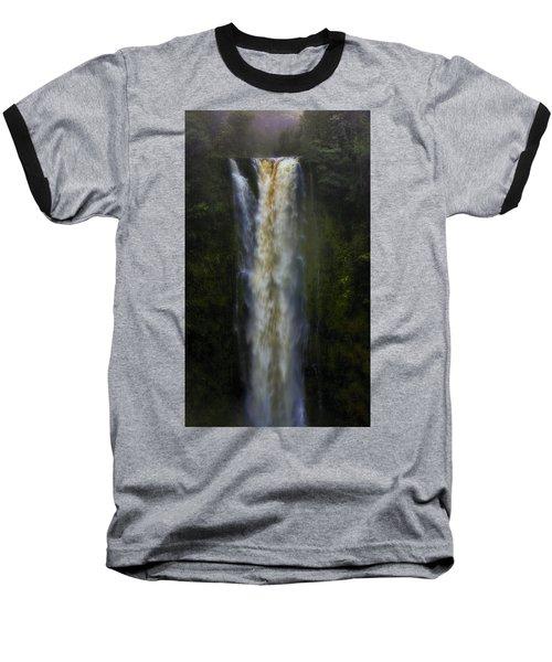 Baseball T-Shirt featuring the photograph Akaka Falls by Ellen Heaverlo