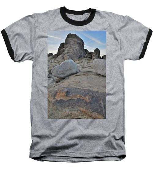 Alabama Hills Boulders At Dusk Baseball T-Shirt