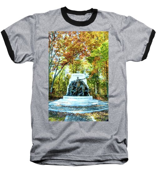 Alabama Monument At Gettysburg Baseball T-Shirt