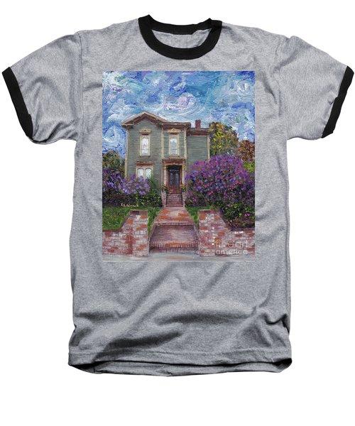 Baseball T-Shirt featuring the painting Alameda 1888 - Italianate by Linda Weinstock