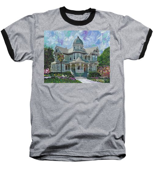 Baseball T-Shirt featuring the painting Alameda 1893  Queen Anne  by Linda Weinstock