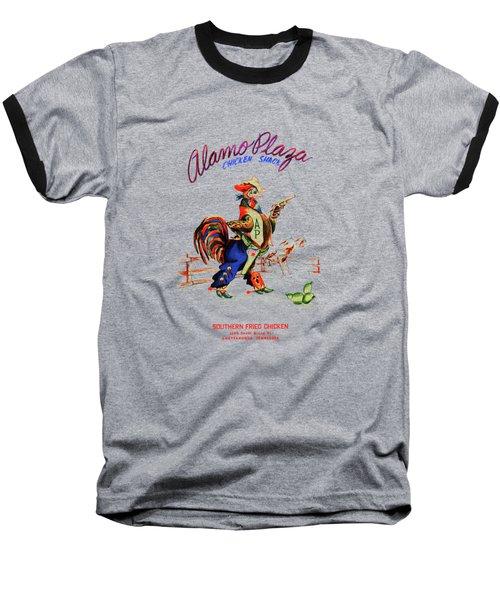 Alamo Plaza Tennessee 1950s Baseball T-Shirt