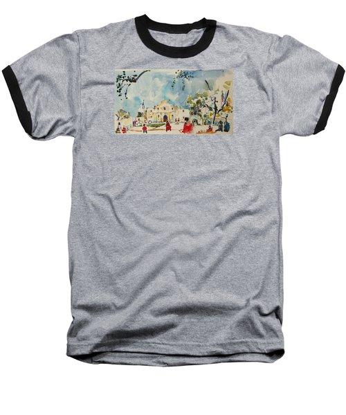 Baseball T-Shirt featuring the painting Alamo San Antonio by Becky Kim