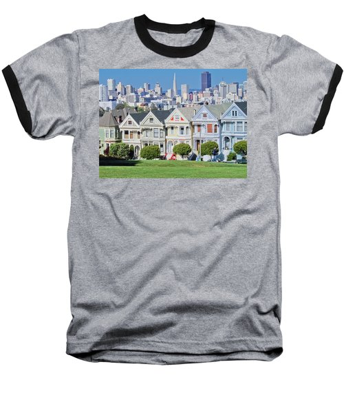 Baseball T-Shirt featuring the photograph Alamo Square by Matthew Bamberg